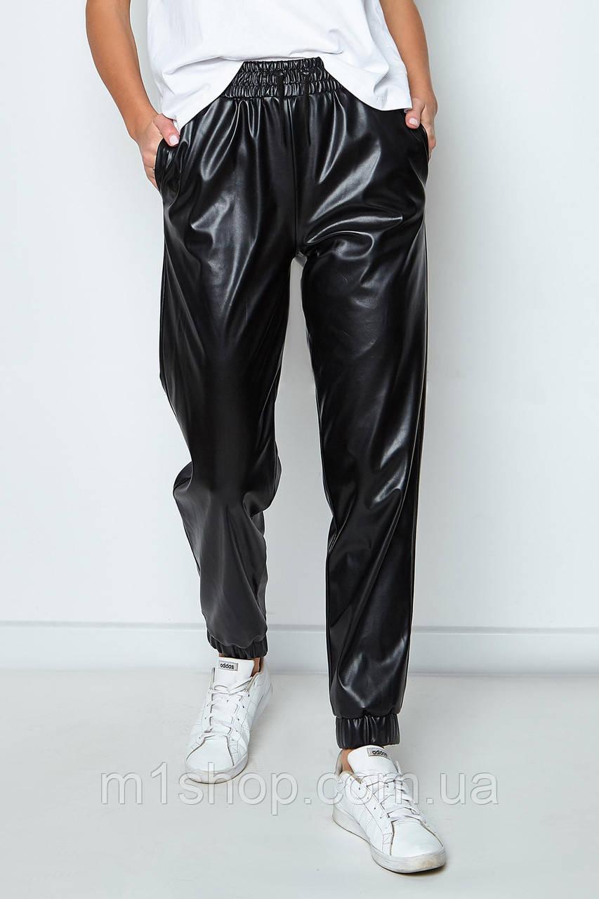 Женские черные брюки из кожи (Панда jd)