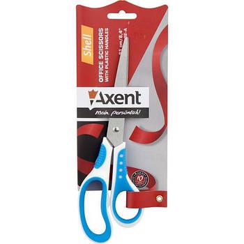 Ножницы канцелярские Axent Shell 20см бело-голубые 6305-02-А