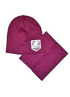 Шапка и шарф-хомут комплект детский девочке Tik Tok