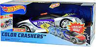 Большая машина Hot Wheels Хот Вилс со звуком и светом 25 см Супергонщик Toy State Color Crashers 98107