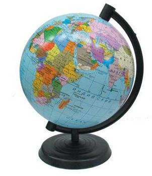 Глобус  настольный диаметр 26см МаркоПоло на пластиковой ножке политический гп26