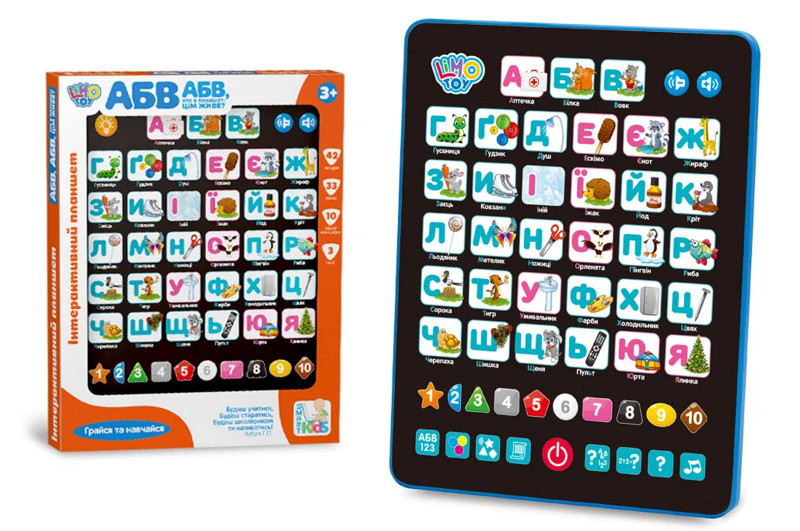 Планшет абетка Limo Toy SK 0019 укр мова.