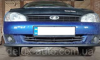 Защита переднего бампера Труба одинарная Передний радиус Ус на LADA Kalina (ВАЗ-1117) универсал 2013+