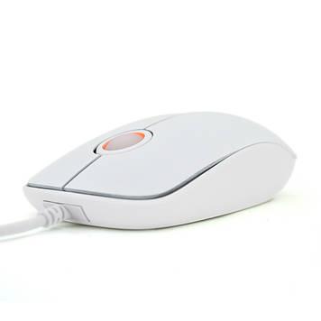 Мишка комп'ютерна провідна PZX B-2, White, Box