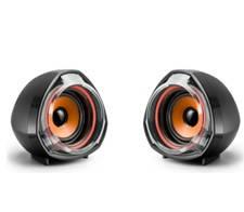 Колонки 2.0 JEDEL JD-А7 USB + 3.5mm, 2x3W, 90Hz- 20KHz, з регулятором гучності, Black / Orange, BOX, Q40