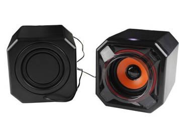 Колонки 2.0 JEDEL JD-A8 USB + 3.5mm, 2x3W, 90Hz- 20KHz, з регулятором гучності, Black, BOX, Q24