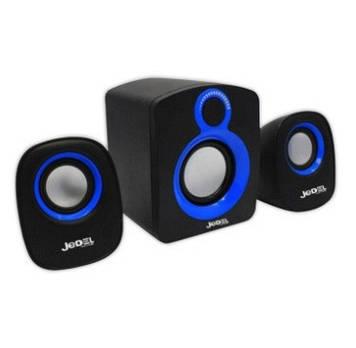 Колонки 2.1 JEDEL JD-SD003 USB + 3.5mm, 2x3W, 90Hz- 20KHz, з регулятором гучності, Black/Blue, BOX, Q30