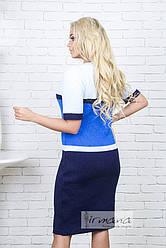 Платье Карамелька 1195 синий/электрик/голубой