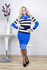 Платье Памела электрик/синий/белый