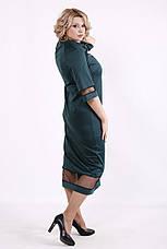 Зелене плаття батальне для повних нижче коліна, фото 2