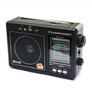 Радіоприемник GOLON RX-99UAR, 3W, FM радіо, входь microSD, USB, AUX, корпус паласмасс, чорний, BOX