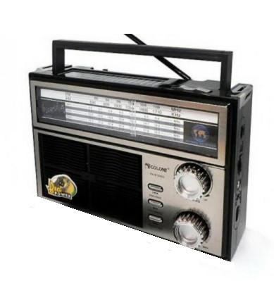 Радіоприймач GOLON RX-626S SOLAR, 3W, FM радіо, Входь microSD, USB, AUX, корпус паласмасс, Black, BOX