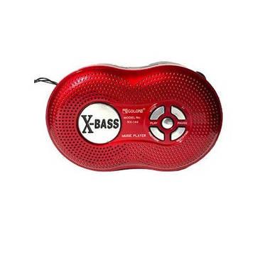 Радіоприймач GOLON RX-144BT, FM радіо, Входь microSD, USB, AUX, корпус пластмас, Red, BOX