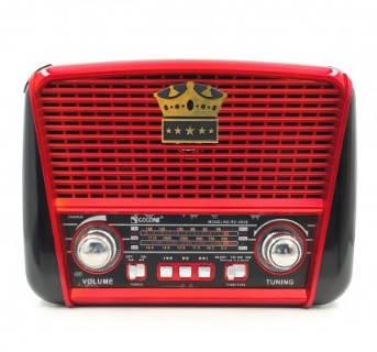 Радіоприймач GOLON RX-455S SOLAR, LED, 3W, FM радіо, Входь microSD, USB, AUX, корпус паласмасс, Black / Red,