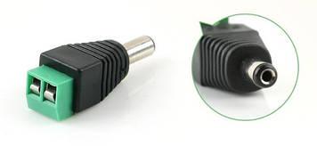Роз'єм для підключення живлення DC-M (D 5,5x2,1мм) з клемами під кабель (Black Plug)