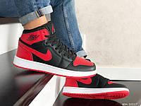 Мужские демисезонные кроссовки Nike Air Jordan (черно-красные) повседневная обувь 10217
