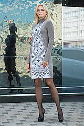 Платье  Ольга бежевый/молоко 1031
