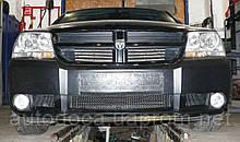 Декоративно-защитная сетка радиатора Dodge Avenger бампер