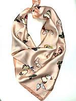 Женский шелковый платок с принтом бабочки, фото 1
