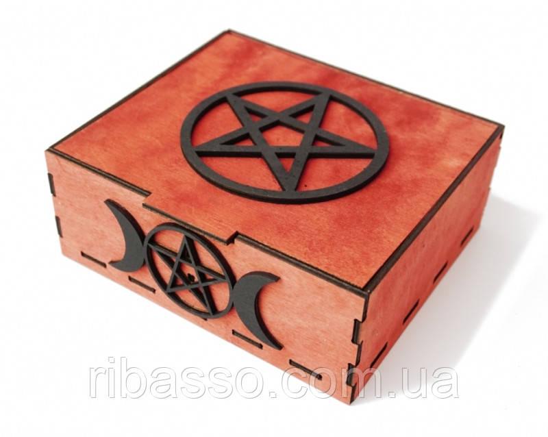 9160023 Шкатулка Таро на 2 колоды карт (красная)