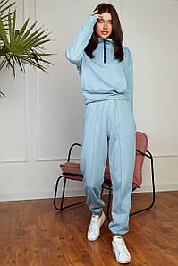 Прогулянковий спортивний жіночий костюм з кофтою на блискавці і капюшоном (Квін jd)