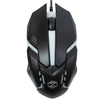 Мишка комп'ютерна провідна ZORNWEE GM02, Black/Silver, Box