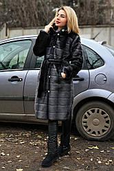 Шуба Норка №21 стрижка горизонт пугов с утеплителем