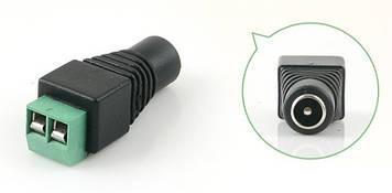 Роз'єм для підключення живлення DC-F (D 5,5x2,1мм) з клемами під кабель Q100