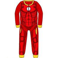 Пижама флисовая сдельная Марвел - Айронмен теплый слип для мальчика