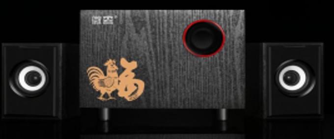 """Колонки 2.1 JEDEL JD-T80 USB+3.5 mm, 3"""" 3W 2x3W, 90Hz - 20KHz, з регулятором гучності, Black, BOX, Q20"""