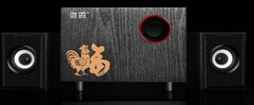 """Колонки 2.1 JEDEL JD-T80 USB+3.5mm, 3"""" 3W 2x3W, 90Hz- 20KHz, с регулятором громкости, Black, BOX, Q20"""