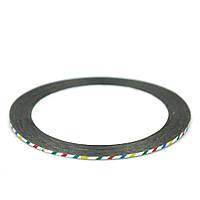 Скотч - лента для декора ногтей, 1 мм разноцветная