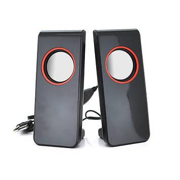"""Колонки 2.0 JEDEL JNS-26 USB + 3.5mm, 4 """"2x3W, 90Hz- 20KHz, з регулятором гучності, Black, BOX, Q20"""