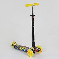Самокат А 24650/779-1394 Maxi Best Scooter 4 Светящихся Колеса, Трубка Руля Алюминиевая