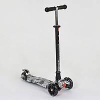 Самокат А 25465/779-1320 Maxi Best Scooter 4 Светящихся Колеса, Трубка Руля Алюминиевая
