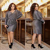 Р 50-60 Ошатне плаття на запах з рукавами кажан Батал 23478