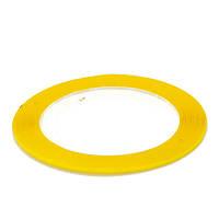 Скотч - лента для декора ногтей, 1 мм желтые блестки