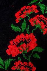 Плаття в'язане Маки чорно червоний