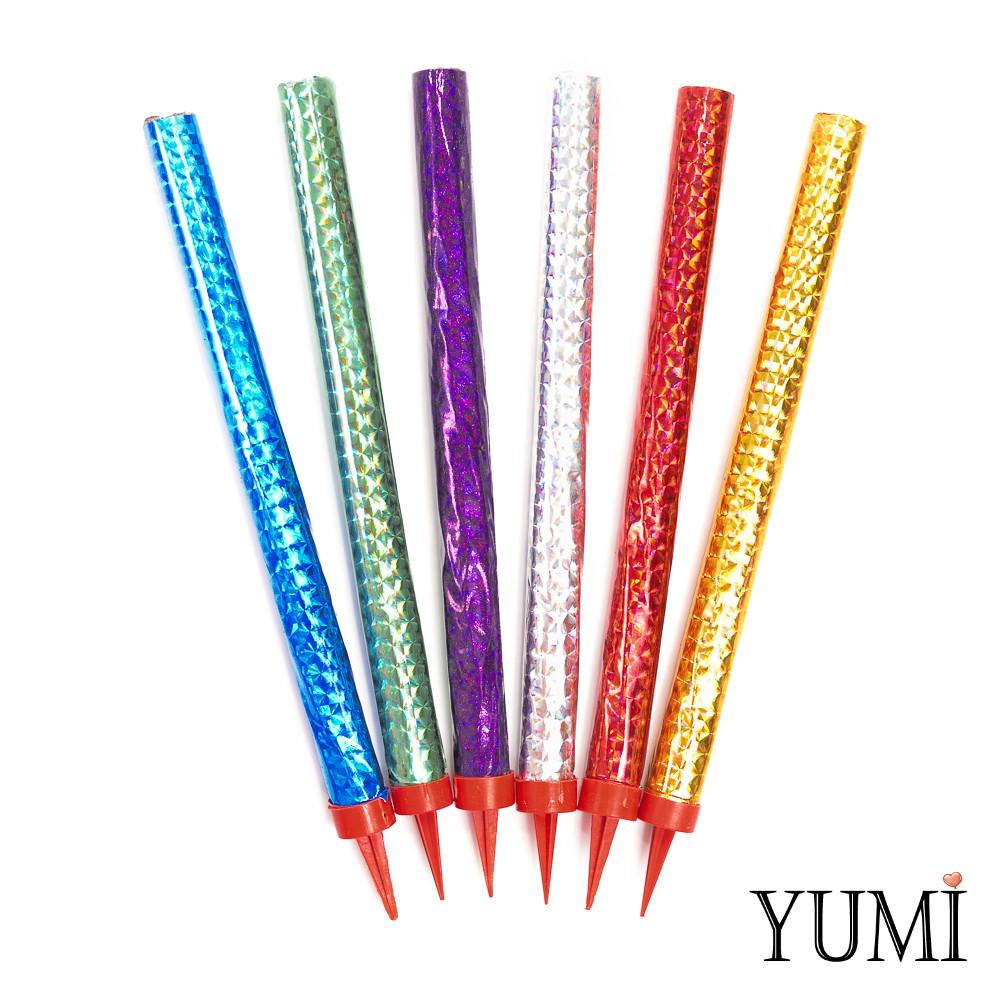 Свечи холодный фонтан 18см разноцветный (6 шт)