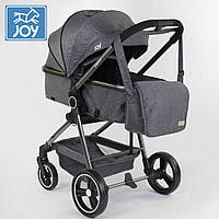Универсальная коляска трансформер 2 в 1 JOY Naomi 96471 Темно-серый
