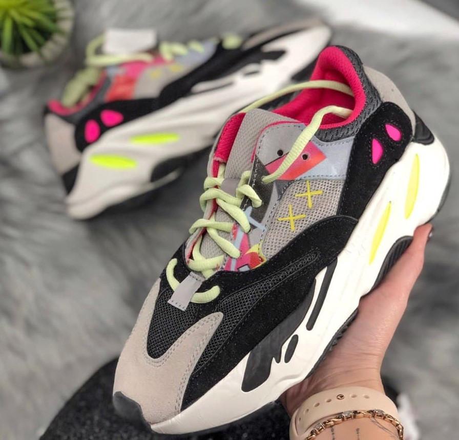 "Жіночі кросівки Adidas Yeezy Boost 700 ""Wave Runner Pink"". Живе фото. (Репліка ААА+)"