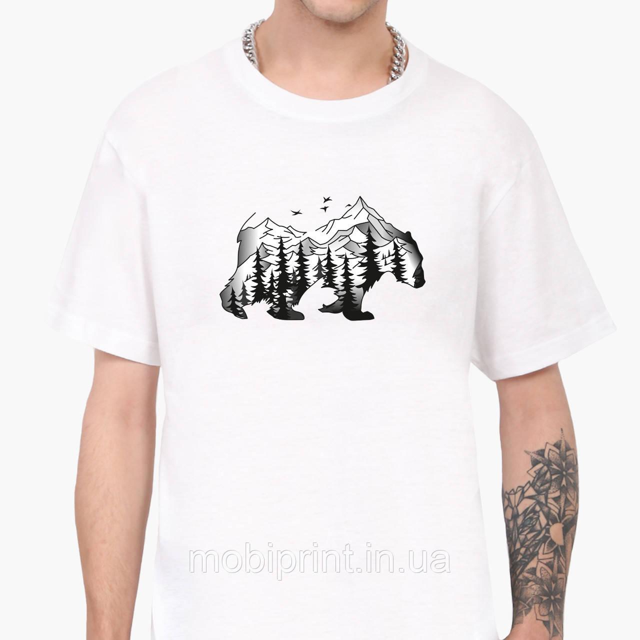 Футболка чоловіча Ведмідь (Bear) Білий (9223-1988)