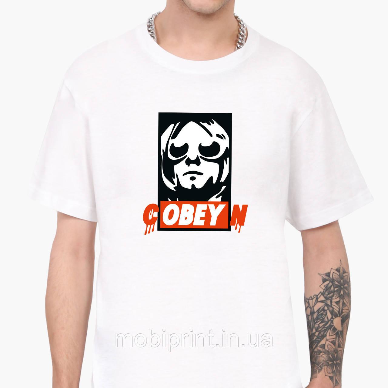 Футболка чоловіча Кобейн Курт Кобейн (cOBEYn Kurt Cobain) Білий (9223-1990)