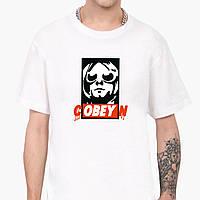 Футболка чоловіча Кобейн Курт Кобейн (cOBEYn Kurt Cobain) Білий (9223-1990), фото 1