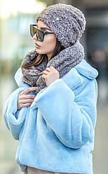 Комплект №227 букле шапка+ шарф-хомут
