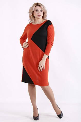 Зручне повсякденне плаття батал до коліна великих розмірів, фото 2