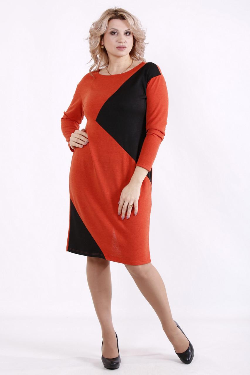 Зручне повсякденне плаття батал до коліна великих розмірів