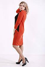 Зручне повсякденне плаття батал до коліна великих розмірів, фото 3