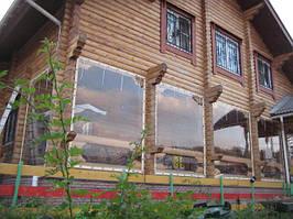 Прозрачные мягкие окна и ПВХ шторы для беседок,веранд и террас