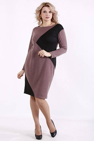 Трикотажне плаття великих розмірів для роботи на кожен день, фото 2